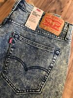 LEVI'S 541 Mens 33x31 Athletic Fit Tapered Acid Wash Stretch Denim Jeans *IRR