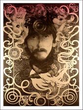 George Harrison Ultimate Fan Poster Tinted Silver Ink Beautiful  Steve Harradine