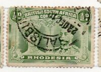 Rhodesia 1910 Double Head Issue Fine used Shade 1/2d. 235612