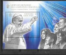 Vatican 2016 Joint Issue with Poland World Youth Day Krakow MNH S/S