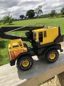 Tonka Yellow Crane Truck Turbo Diesel Vintage Large Tonka  Toys