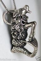 "6.23g Sweet Solid Sterling Silver Magical UNICORN PEGASUS Horse Pendant 1.8/"" BIG"