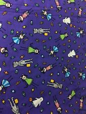 Cotton Fabric Halloween Purple Kids Costumes  Mummy Ghost Pirate Almost 2 Yards
