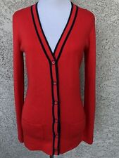 NWT Tommy Hilfiger Women's Small Cardigan Sweater Red Buttons Long Sleeve
