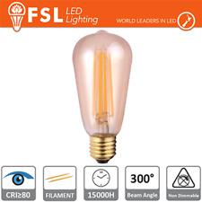 lampada edison led filamento 220-240 volt 300° 6 watt A+ lif flst56v6w22k27