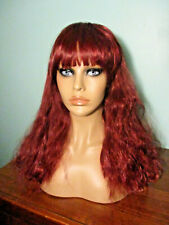 "16"" red wavy long WIG with BANGS - Bobbi Boss bag - MADALYN"