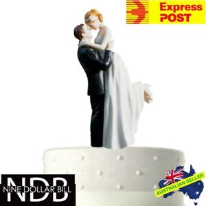 Cake Topper Classic Wedding Bride and Groom Newlywed EXPRESS POST