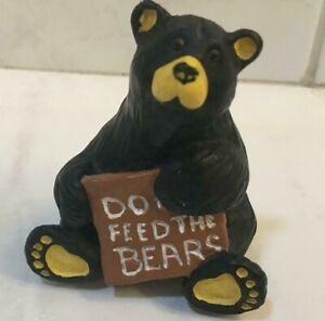 """BIG SKY CARVERS BEARFOOTS BEARS      """"Do Feed The Bears"""""""