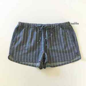 J. Crew Factory Striped Chambray Pull-On Shorts NWT Size: S, M