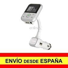 Cargador Mechero MP3 Manos Libres Bluetooth USB Transmisor FM SD BLANCO a2799