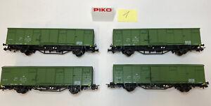 4 X Piko 5/6439/014 H0 DC Bahnpostwagen Post aa DR, Ep.4, grünes Dach