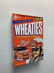 DALE EARNHARDT SR 1997 WHEATIES CEREAL BOX DESIGNED BY FAMOUS ARTIST SAM BASS