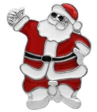 Silver Red White Christmas Santa 20mm Snap Charm Button For Ginger Snaps Jewelry