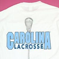 Vtg 90s UNC Carolina LAX Lacrosse STX T-Shirt LARGE NOS USA Made Deadstock NWT