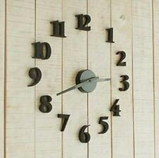 Concise Modern DIY Clock Wall Room Interior Decoration Digit Clock Home Decor