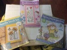3 Mini Cross Stitching Kits From World Of Crossing Magazine, Bear, Ladybugs Bee