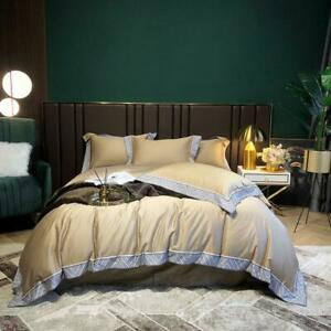 Egyptian Cotton Solid Color Bedding set Print Duvet Cover Bed Sheet Luxurious