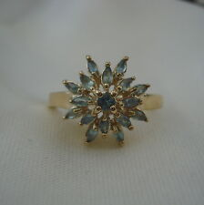 Certified Natural Alexandrite Floral Cluster Gold Ring