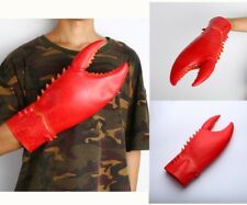 US 1 Par Látex Halloween garras de langosta cangrejo Juegos con disfraces Disfraz Guantes apoyos de animales