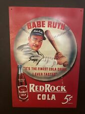 Babe Ruth collector metal sign