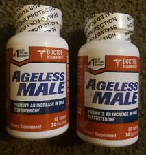 (2) Ageless Male Dietary Supplement NEW Sealed Ex 2022