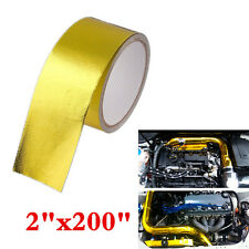 5m Car Engine Hood High Performance Reflective Gold Wrap Tape Heat Protection