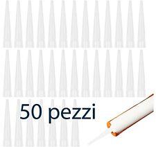 50 PEZZI beccucci per pistola di silicone universale con becco in plastica