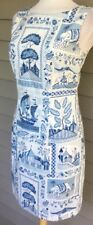 JESSICA HOWARD Blue Cotton Dress  Sequined  Lined   Size 6