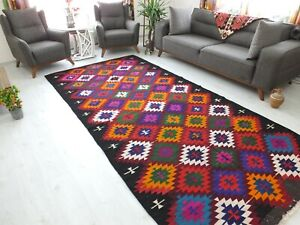 Turkish Kilim 5.6x11.6,Antique Carpet,Turkish Rug,Bohemian Teppich,Low Pile Rug.