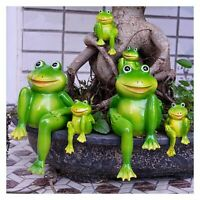 Resin Sitting Frogs Statue Outdoor Decorative Frog Sculpture Garden Ornaments