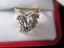 "Estate 14K Gold  Diamonds Coctail Ring 0.70 Cts in ""V"" Design (#16)"
