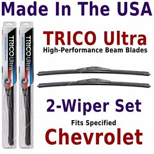 Buy American: TRICO Ultra 2-Wiper Blade Set fits listed Chevrolet -- 13-22-22