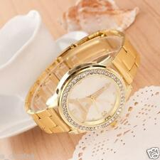 Classic Women Mens Rhinestone Golden Fashion Watches Dress Tower relojes torre