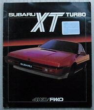 SUBARU XT TURBO Car LF Sales Brochure 1985 #86BR20E