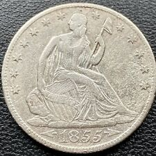 1855 O Seated Liberty Half Dollar 50c High Grade AU Details Shipwreck ? #22171