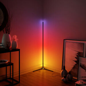 Corner Floor Lamp Minimalist LED Colour Changing License 33-Smd 42mm White