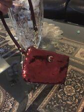 Coach RARE Crimson  B4 Sequin Wristlet Wallet #48429 Great Christmas Gift!