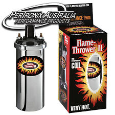 Pertronix Flame-Thrower II Coil - 0.6 ohm - 4,6 & 8 Cyl - Chrome - 45,000V #6200