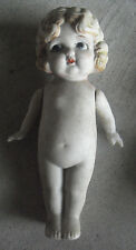 "Big Vintage 1930s Japan Porcelain Bisque Girl Character Doll 7 1/4"" Tall"