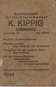 Merkbuch/Tagesmerkbuch 1941 Spezialgeschäft Tischlerei K.Kippig Chemnitz Lohstr.