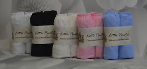 2 x Baby Moses Basket Jersey Fitted Sheet 100% Cotton 30x75cm
