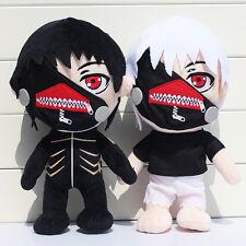 """2x Anime Tokyo Ghoul Kaneki Ken Plush Toy Soft Stuffed Doll black / white12.5"""""""