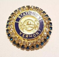 Regency\u00a9 Two-color Fan-shaped Rhinestone Pin