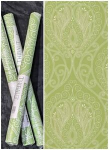 """Thibaut RIO Green Wallpaper 3 bolts 27' x 27"""" 182 sq ft NIP Repeat match T-735"""