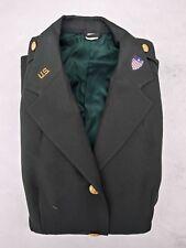 Vintage US Army Women Officer Tunic 2nd Lt Adjutant 172nd Inf. Brig. Size 18L