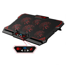 17in Gaming Laptop Cooling Pad Six Fan Led Screen Cooler Stand Notebook Mat Pc