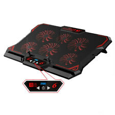 17 in Gaming Laptop Cooling Pad Six Fan Led Screen Cooler Stand Notebook Mat Pc