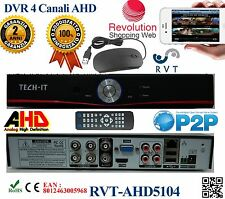 DVR 4 Canali CH AHD P2P CLOUD TVCC PTZ ibrido Analogico/AHD menu in ITALIANO top