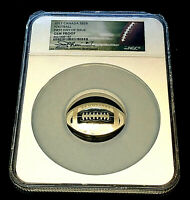 2017 Canada $25 Silver Convex Football 1oz Coin•NGC 1st Day Joe Theismann Signed