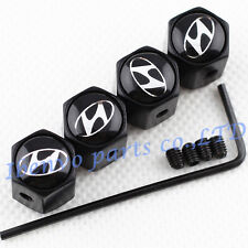 Anti-theft Black Metal Car Wheel Tyre Tire Stem Air Valve Cap For Hyundai Motors